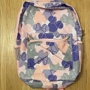 Disney Parks WDW backpack purple/pink/white bows.